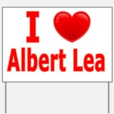 I Love Albert Lea red Yard Sign