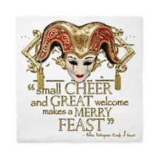 comedyoferrors-gold-blanket Queen Duvet