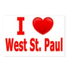 I Love WSP red Postcards (Package of 8)
