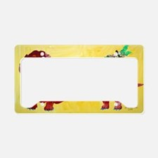 Doxie  Dragonflies License Plate Holder