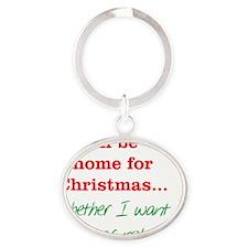 home_Christmas_rnd Oval Keychain