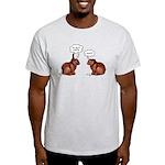 Chocolate Easter Bunnies Ash Grey T-Shirt