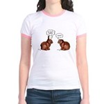 Chocolate Easter Bunnies Jr. Ringer T-Shirt