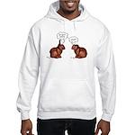 Chocolate Easter Bunnies Hooded Sweatshirt