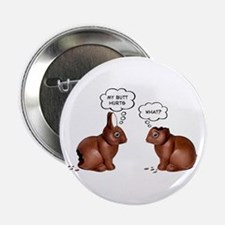 Chocolate Easter Bunnies Button