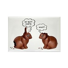 Chocolate Easter Bunnies Rectangle Magnet