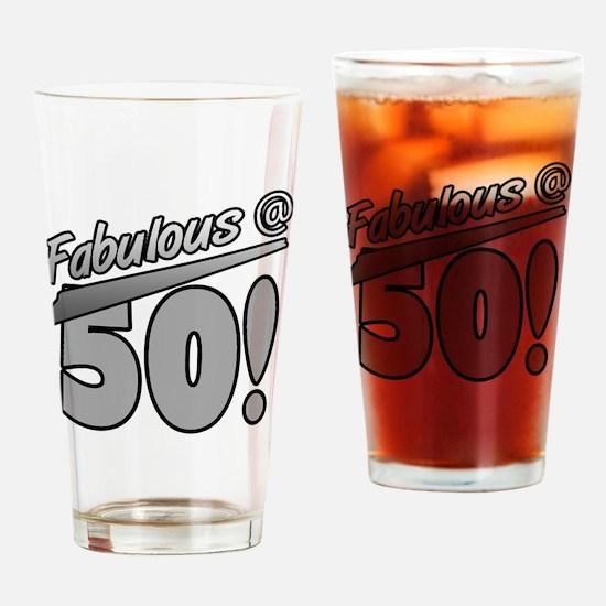 Fabulous At 50 Drinking Glass