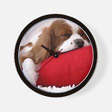 Spaniel pillow Wall Clock