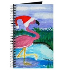 SANTA FLAMINGO CHRISTMAS THROW BLANKET Journal