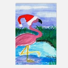 SANTA FLAMINGO CHRISTMAS  Postcards (Package of 8)