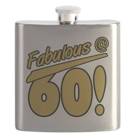 Fabulous At 60 Flask