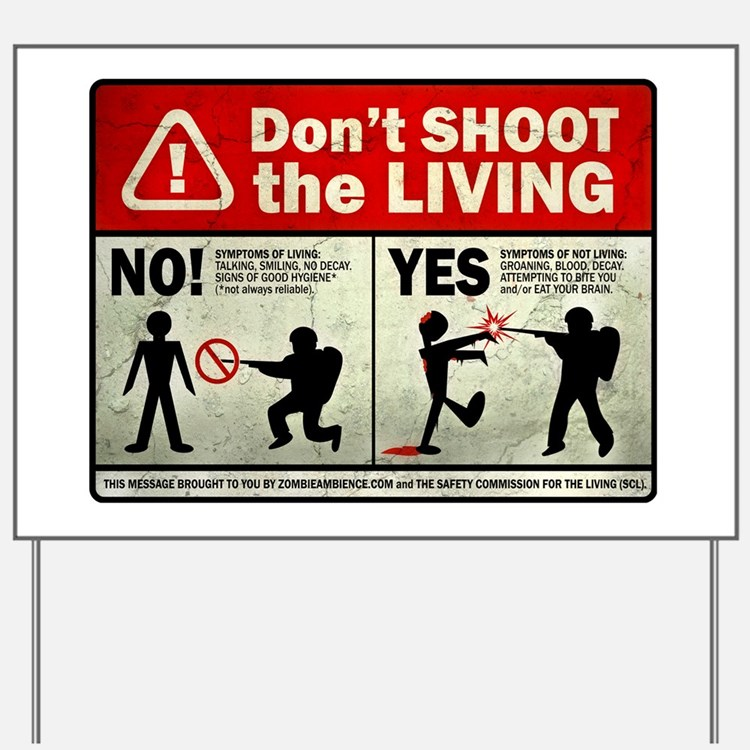 dontshoot Yard Sign