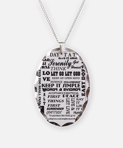 12 step back cover. Necklace