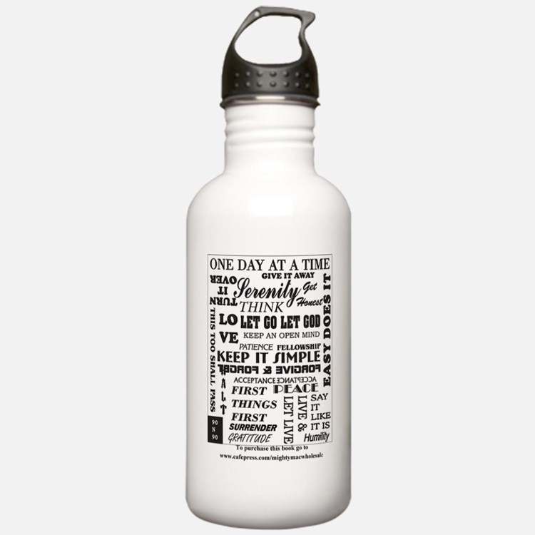 12 step back cover. Water Bottle