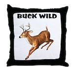Buck Wild Throw Pillow