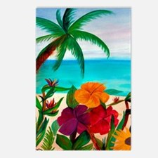 TROPICAL BEACH THROW BLAN Postcards (Package of 8)