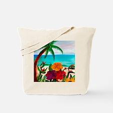 TROPICAL BEACH THROW BLANKET Tote Bag