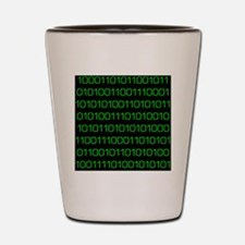binary code Shot Glass