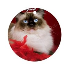 Maddie Tile Coaster Round Ornament