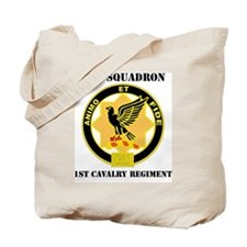 1ST CAV. WITH TEXT Tote Bag
