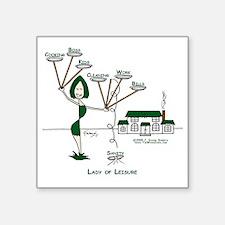 "LadyOfLeisureMom-r8-Cooking Square Sticker 3"" x 3"""