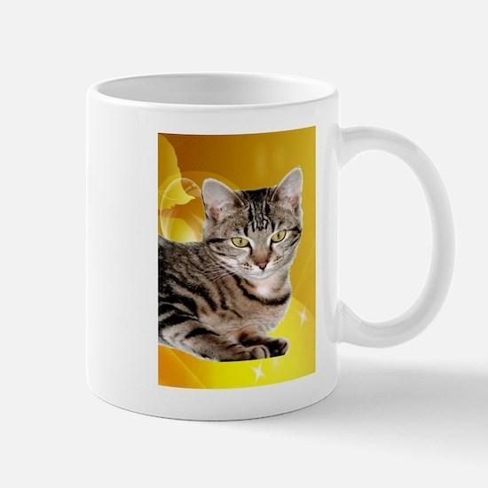 tabby cat peace joy b Mugs