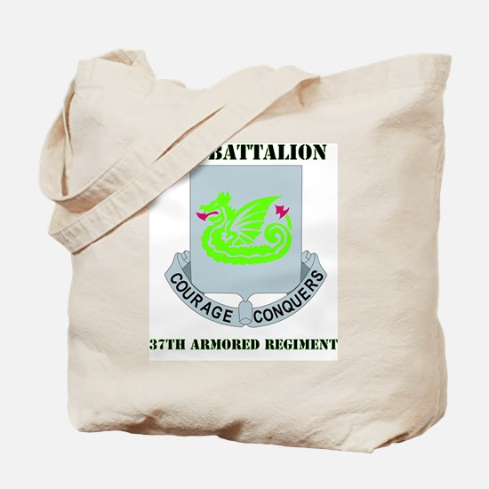 37TH ARMOR WITH TEXT Tote Bag