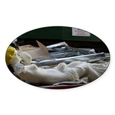 reclining mannequin Decal