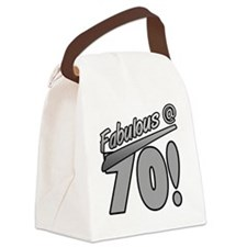 Fabulous At 70 Canvas Lunch Bag