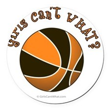 basketball-black-orange Round Car Magnet