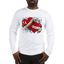 Osteoporosis Hope Hearts Long Sleeve T-Shirt