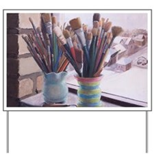 Paint Brushes 1 Yard Sign