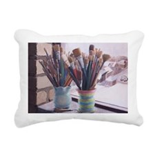 Paint Brushes 1 Rectangular Canvas Pillow