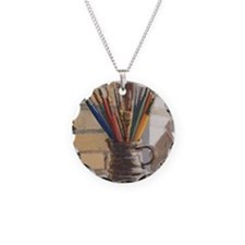 Paint Brushes 2 Necklace