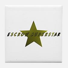 Escrow SuperStar Tile Coaster