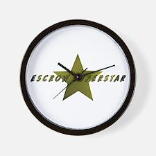 Escrow SuperStar Wall Clock