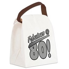 Fabulous At 80 Canvas Lunch Bag