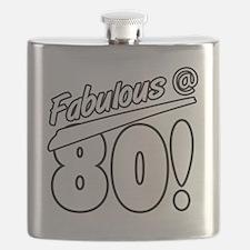 Fabulous At 80 Flask