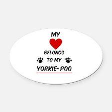 Yorkie-Poo Oval Car Magnet