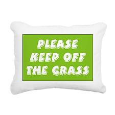 keep off grass Rectangular Canvas Pillow