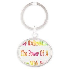 Autism Power_dark Oval Keychain