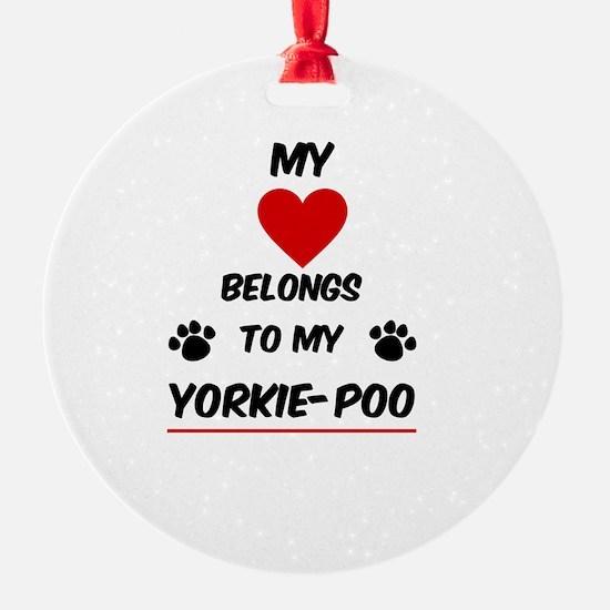 Yorkie-Poo Ornament