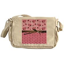 Cute Pink Ladybugs Messenger Bag