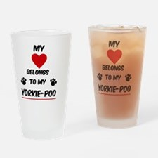 Yorkie-Poo Drinking Glass