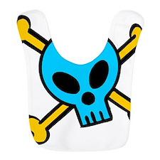 Blue Skull and Bones Bib