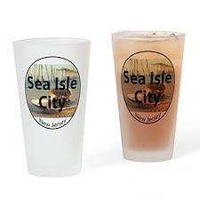 seaislecircle2 Drinking Glass