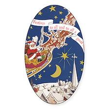 santa_flying_sleigh Decal
