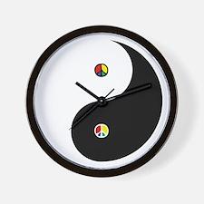 Peaceful Yin  Yang Black-T Wall Clock