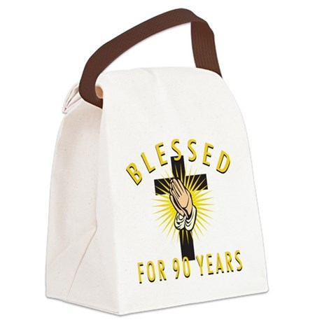Blessed90 Canvas Lunch Bag