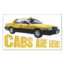 CABS ARE HERE Decal